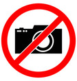 no photography restriction warning sign ico vector image