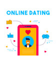 online dating social media date app concept design vector image