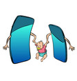 online learning smartphones raise a child mom vector image vector image