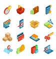 online shopping icon e-commerce technology vector image vector image