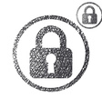 Padlock lock simple single color icon isolated on vector image vector image