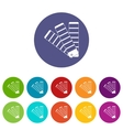 Paint color selection booklet set icons vector image