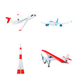 plane and transport symbol vector image