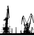 Port Crane Silhouette vector image vector image
