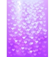 Purple festive lights in heart shape background vector image vector image