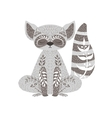 Raccoon Relaxed Cartoon Wild Animal With Closed vector image vector image