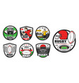 rugsport icons american football signs vector image