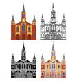 saint joseph church in belo horizonte brazil vector image vector image