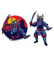 samurai ronin mascot vector image vector image