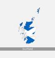 scotland map flag vector image