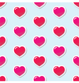 Seamless Heart love background pattern vector image