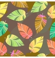 Seamless texture of leaves vector image vector image