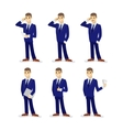 Set of cartoon businessmans vector image vector image