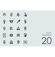 Set of fingerprint icons vector image