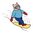 snowboarder pig symbol 2019 vector image vector image