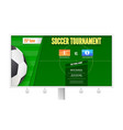 soccer or european football tournament on vector image vector image