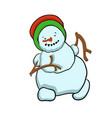 stock running snowman vector image vector image