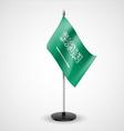 Table flag of Saudi Arabia vector image vector image