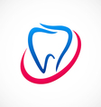 teeth medical abstract logo vector image