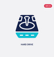 two color hard drive icon from big data concept vector image vector image