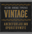 vintage typeface font vector image vector image