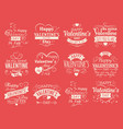 vintage valentines day banners for love vector image vector image