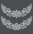 vitnahe lace half wreath single pattern set vector image