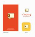 wallet company logo app icon and splash page vector image