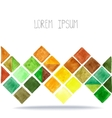 Watercolor geometric polygon background Brown vector image