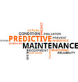 word cloud - predictive maintenance vector image vector image