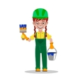 Girl builder character vector image