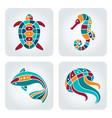 seaside icons set vector image