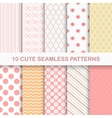 10 cute seamless patterns vector image vector image