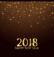 2018 shiny glitter sparkles new year background vector image vector image