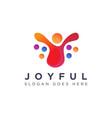 abstract liquid joyful person human logo icon