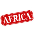 africa red square grunge retro style sign vector image vector image