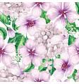 apple tree flowers hydrangea flowerspetals vector image vector image