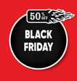 black friday discount round banner vector image vector image