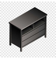 black night stand icon isometric style vector image vector image