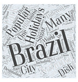 brazil holidays Word Cloud Concept vector image vector image