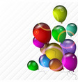 bright balloons vector image vector image