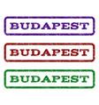 budapest watermark stamp vector image