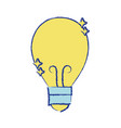 bulb power electric energy to illuminate vector image vector image