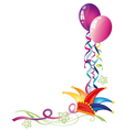 carnival hat balloons vector image vector image