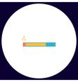 cigarette computer symbol vector image vector image