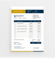 clean invoice template design vector image vector image
