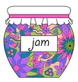 Colorful jam jar vector image vector image