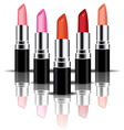 colorful lipstick perspactive vector image vector image