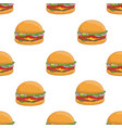 colorful seamless pattern with tasty hamburgers on vector image vector image