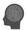 concept maze in human head vector image